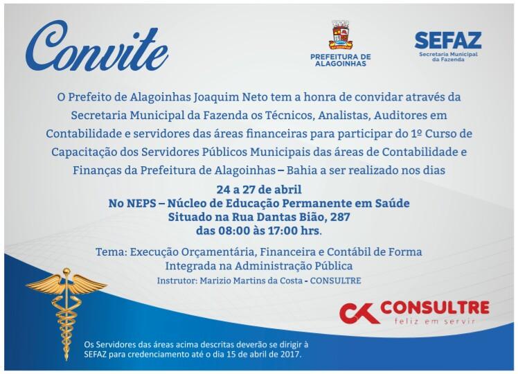Prefeitura de Alagoinhas oferece curso de capacitação para servidores das áreas contábil e financeira