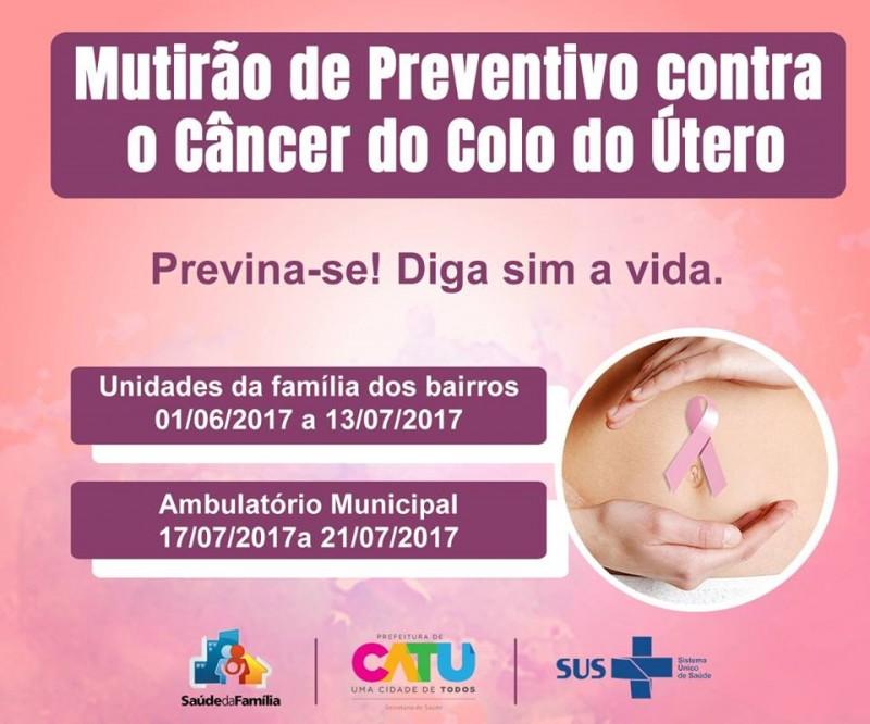 Mutirão de Preventivo contra o câncer do colo do útero