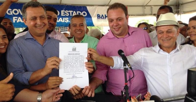 Alagoinhas: Rui assina ordem de serviço da policlínica e confirma recuperação da estrada Aramari/Ouriçangas