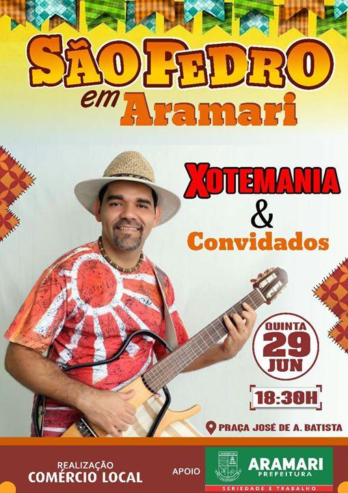 Aramari terá festa de São Pedro