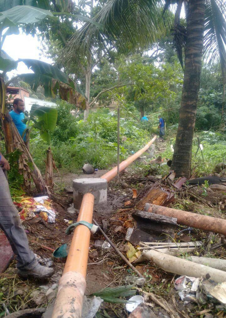 Reparo na tubulação de esgoto da rua Tiradentes é concluído