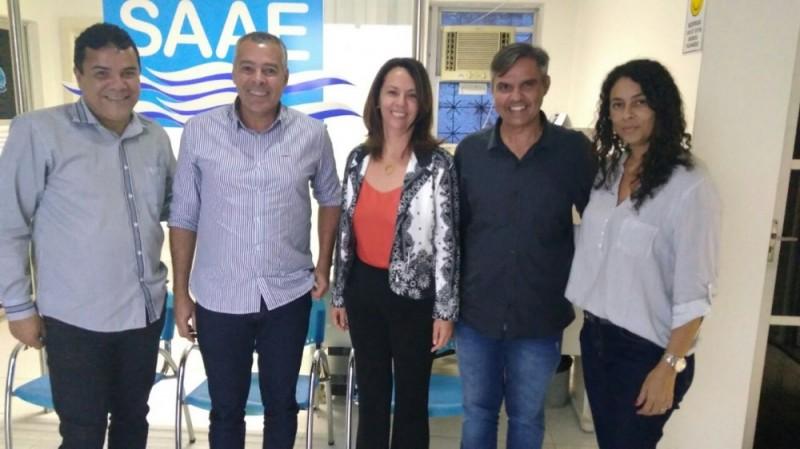 Prefeito de Alagoinhas Joaquim Neto visitou a sede do SAAE