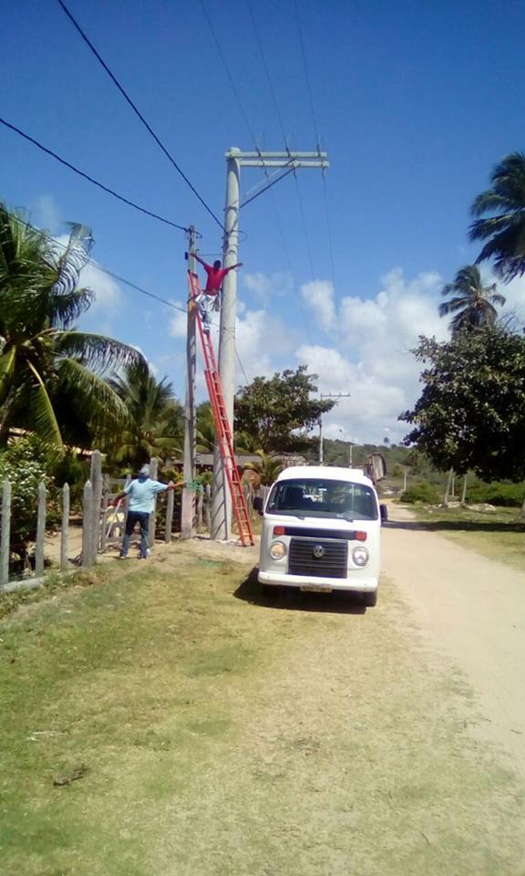 Esplanada - Prefeitura realiza troca de lâmpadas
