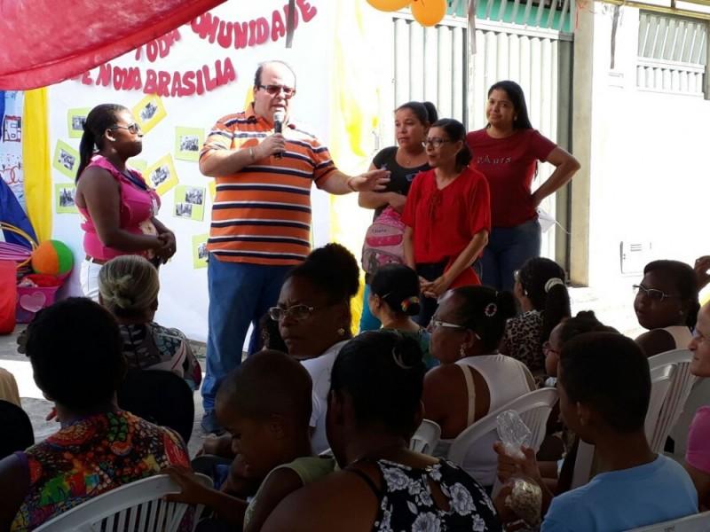 CRAS de Nova Brasília recebe comemoração do Natal das Famílias