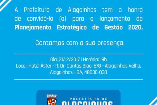 Prefeitura de Alagoinhas apresenta planejamento estratégico para 2020