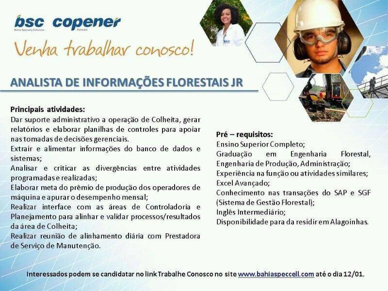 Copener acaba de abrir vaga de emprego em Alagoinhas