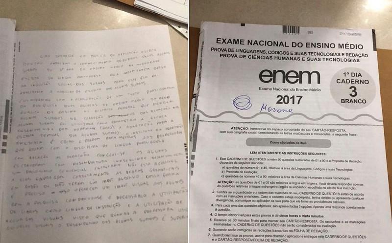 Estudante usou celular para copiar trecho de livro na prova do Enem, diz PF