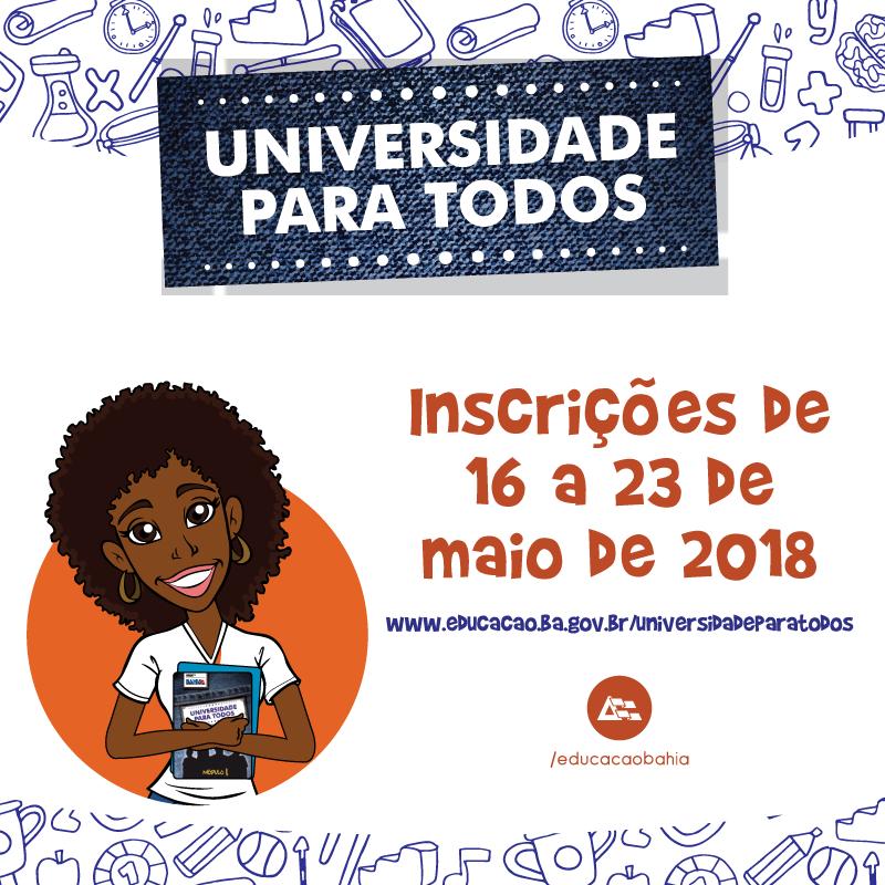 Resultado de imagem para upt universidade para todos 2018