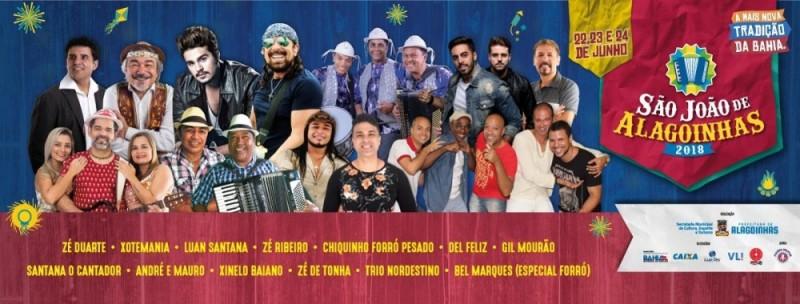 Prefeitura divulga ordem de shows do São João Alagoinhas 2018; confira